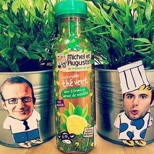 incroyable thé vert aux citrons et larmes de menthe de michel et augustin