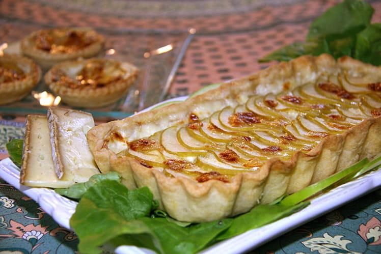 Tarte à la crème de tomme de Savoie et pommes