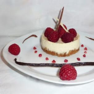 cheesecake framboises et vanille