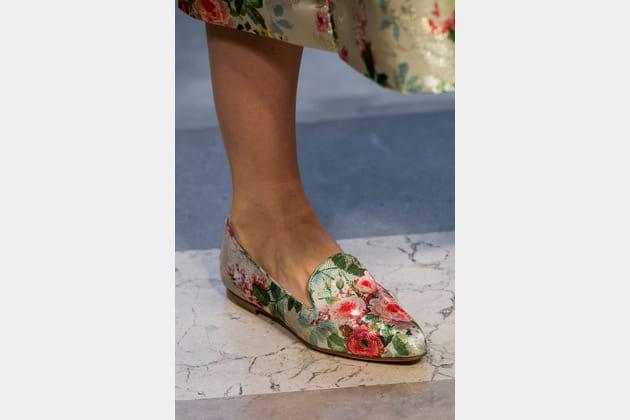 Les slippers du défilé Carolina Herrera
