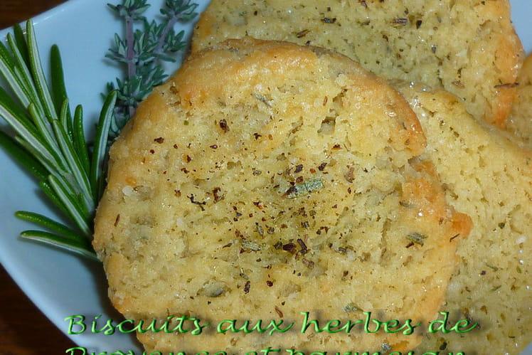 Biscuits aux herbes de Provence et parmesan