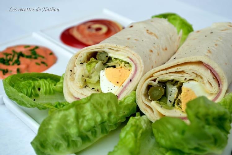 Wraps façon club sandwich