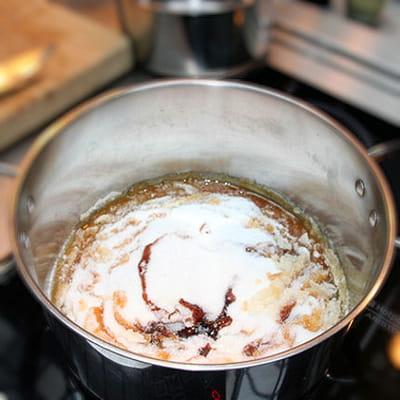 réaliser un caramel au beurre salé à sec