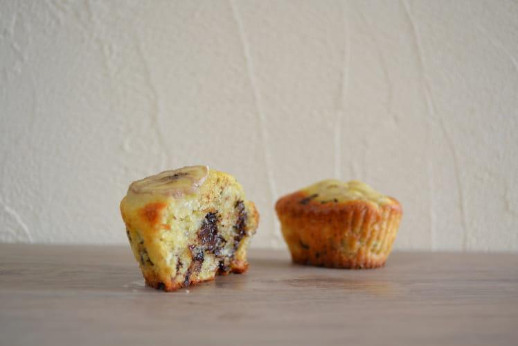 Muffins bananes et pépites de chocolat