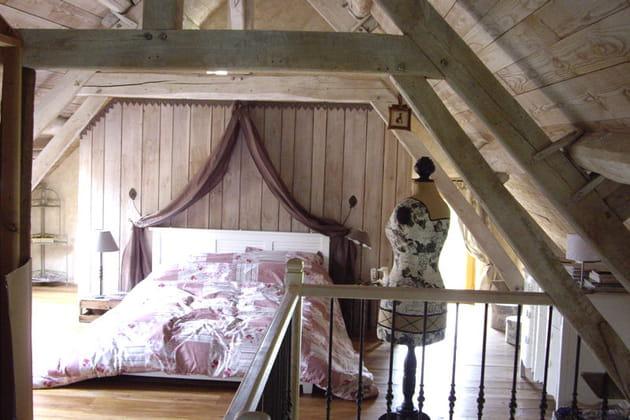 La chambre de Michèle, sous les combles