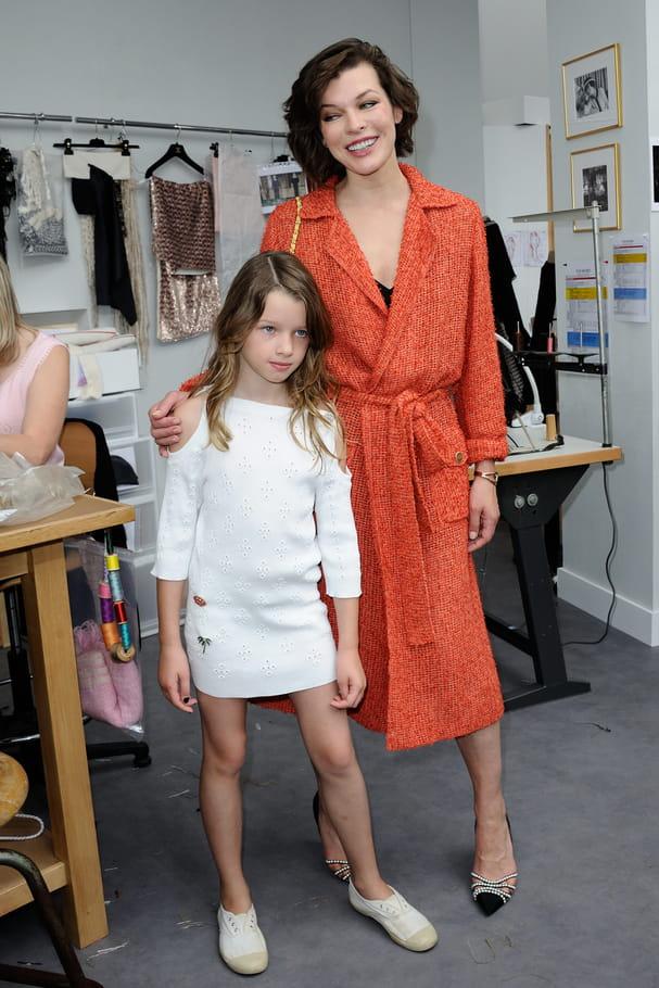 Milla Jovovich et sa fille