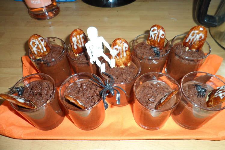 Mousses au chocolat d'Halloween