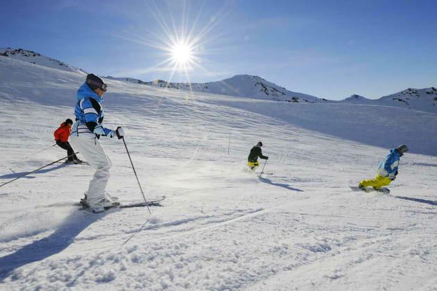 Une journée de ski sur le plus grand domaine du monde