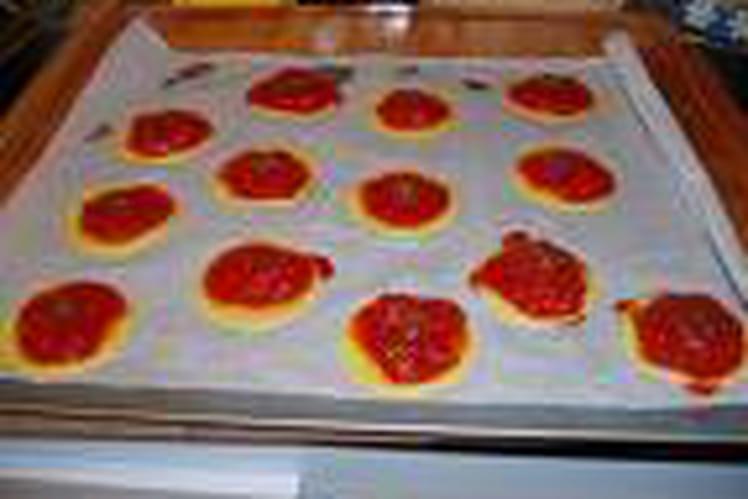 Mini-pizzas aux trois saveurs