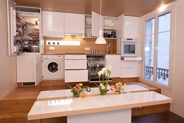 Une cuisine encastr e pour plus de discr tion for Cuisine encastree