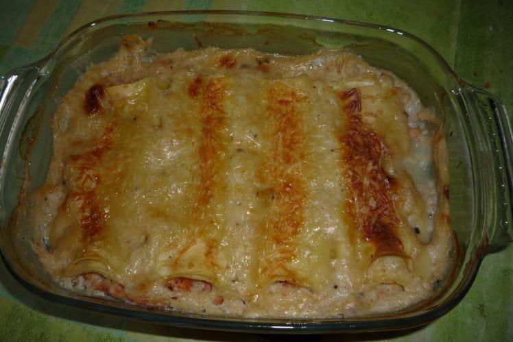 Cannelloni crevettes saumon