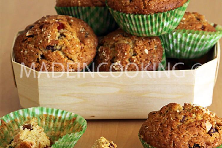 Mini muffins aux fruits confits