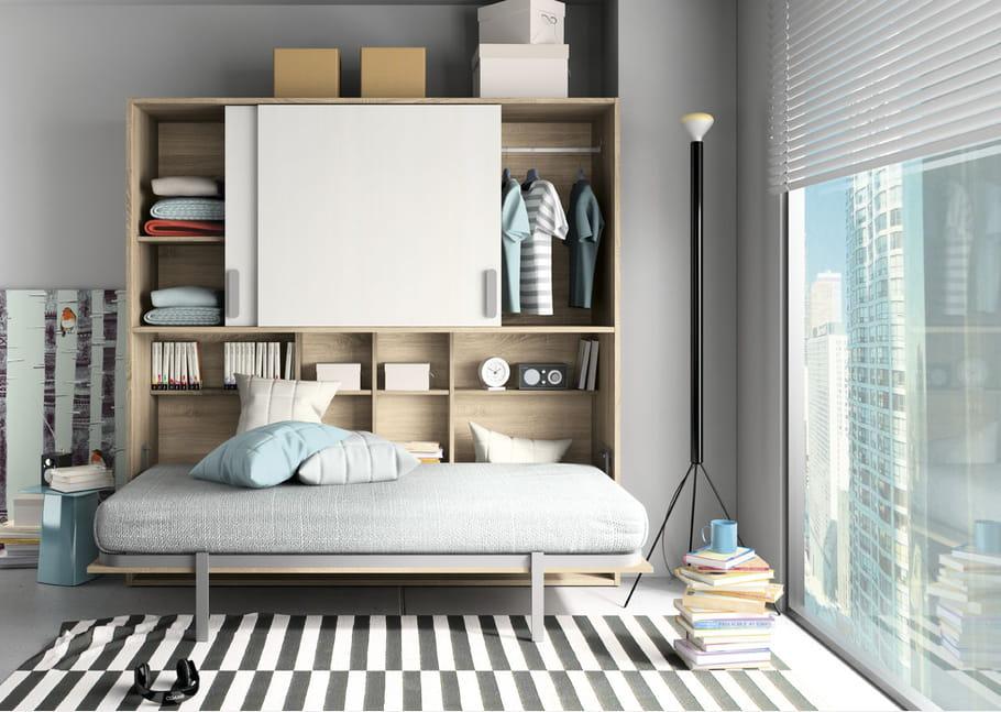 lit escamotable sohan par camif le lit escamotable la rescousse des petits espaces journal. Black Bedroom Furniture Sets. Home Design Ideas