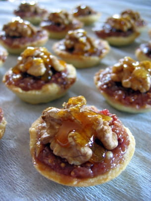 mini tartelettes aux noix et aux figues