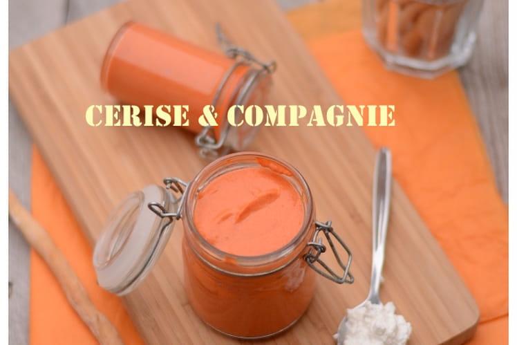 Crème de poivrons rouges au fromage frais