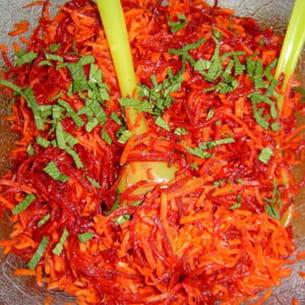 salade de carottes et betteraves râpées