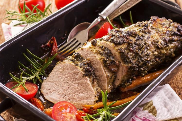 R ti de veau aux senteurs italiennes - Cuisiner un roti de veau ...