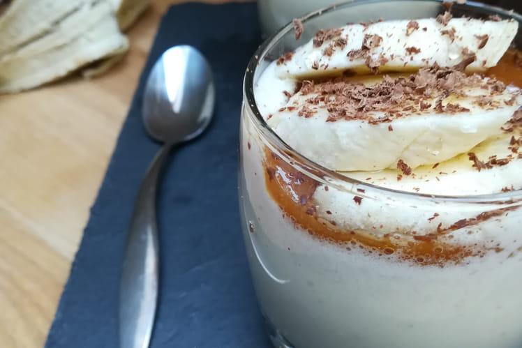 Panna cotta banane-caramel