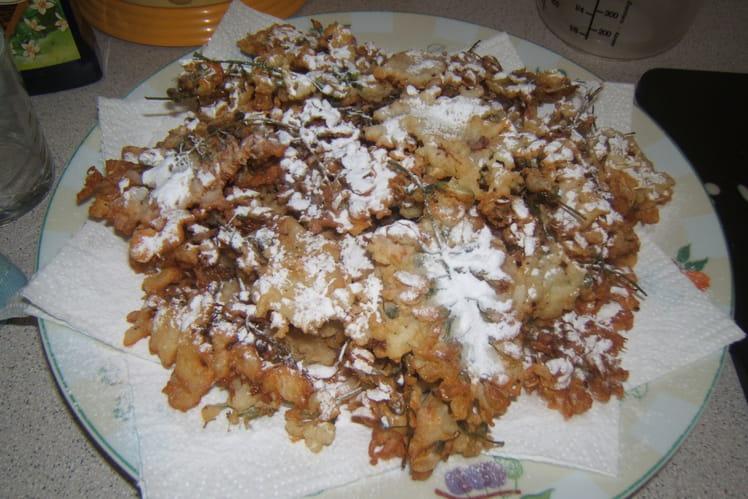 Fleurs d'acacia en beignets
