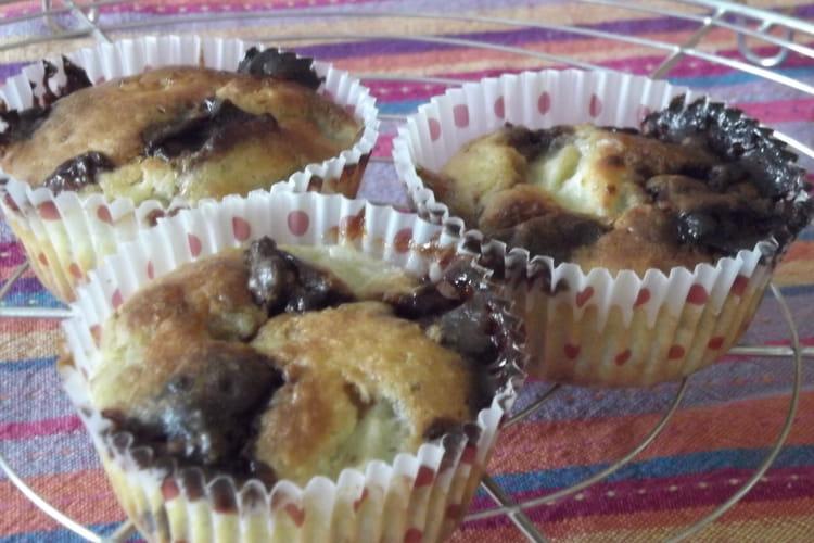 Muffins banane crunch