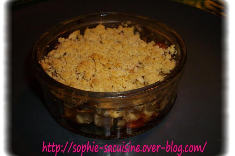 Crumble de poulet et de pommes aux épices