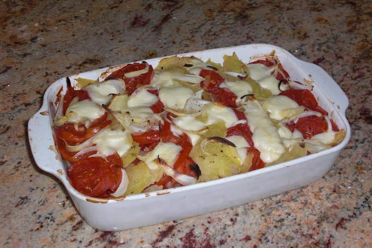 Gratin léger de pommes de terre et de tomates