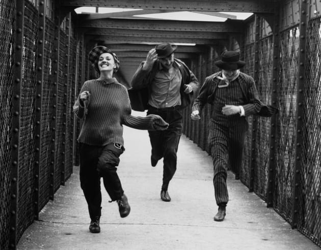 """Jeanne Moreau, Henri Serre et Oscar Werner 1961""""Jules et Jim"""" de François Truffaut"""
