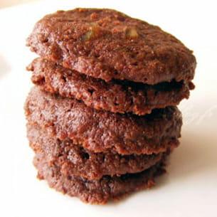 sablés mi-fondants au chocolat et aux écorces d'orange