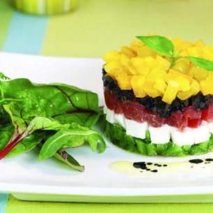 salade méditerranéenne façon tartare et son mesclun