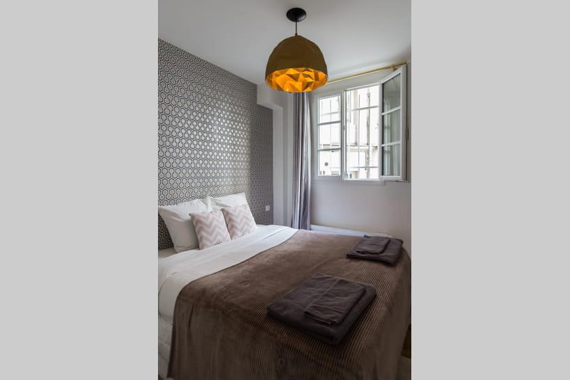 chambre couleur coucher lin et gris deco taupe prune idee peinture ...