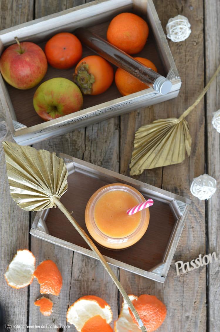 Coloriage Fruit Kaki.Recette De Smoothie Kaki Pomme Clementine Pour Noel