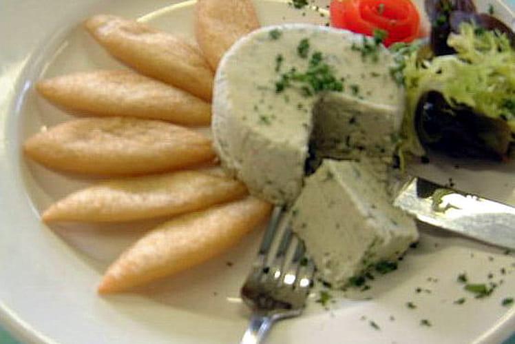 Mousse d'endives à la sauce au bleu