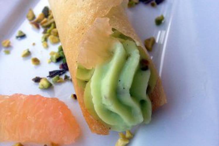 Croustillants légers pamplemousse et pistache