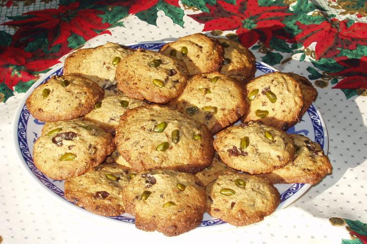 Cookies chocolat et pistaches
