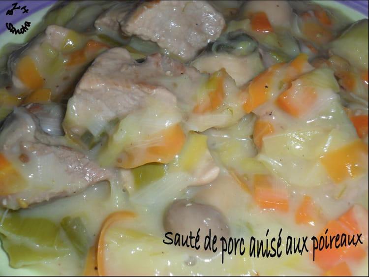 Recette de saut de porc anis aux poireaux la recette - Cuisiner un saute de porc ...