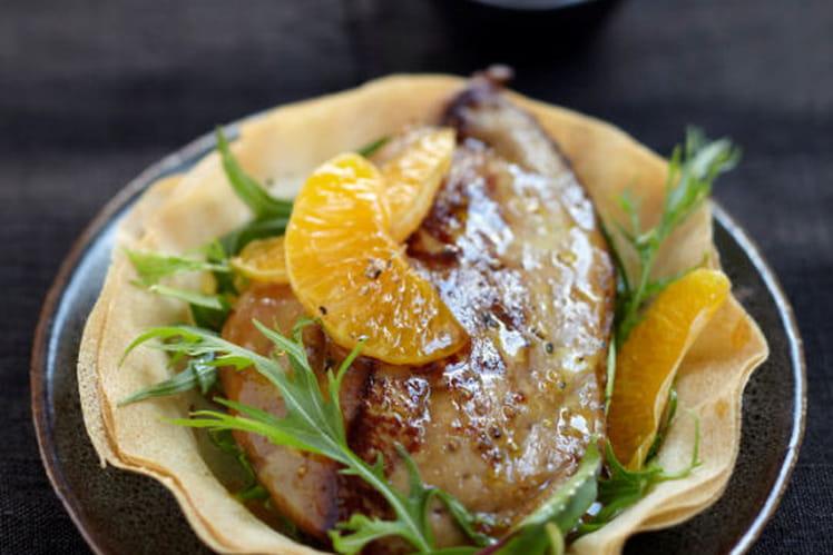 Foie gras de canard des Landes chaud aux clémentines de Corse
