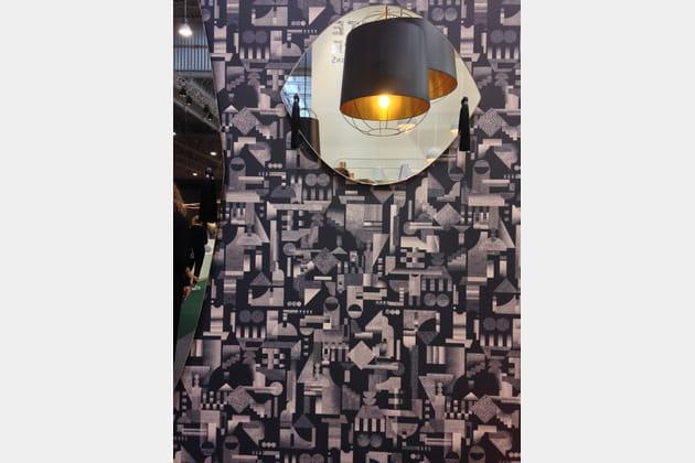 papier peint utopia ascending d 39 ana montiel pour petite friture. Black Bedroom Furniture Sets. Home Design Ideas