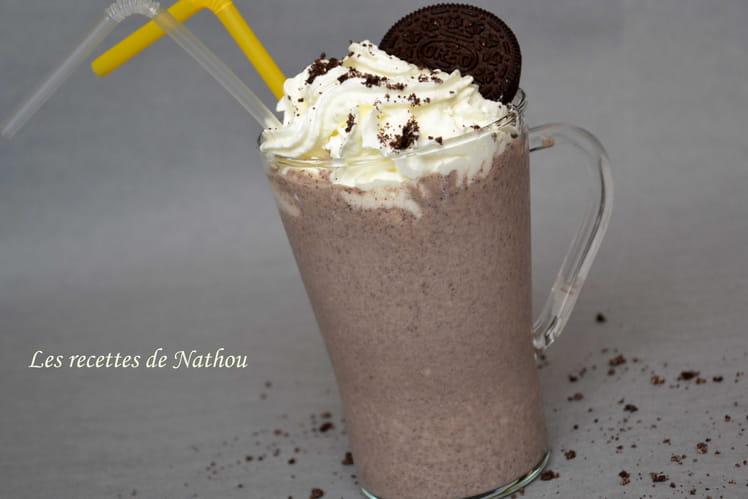 Milk-shake à la banane et Oréo