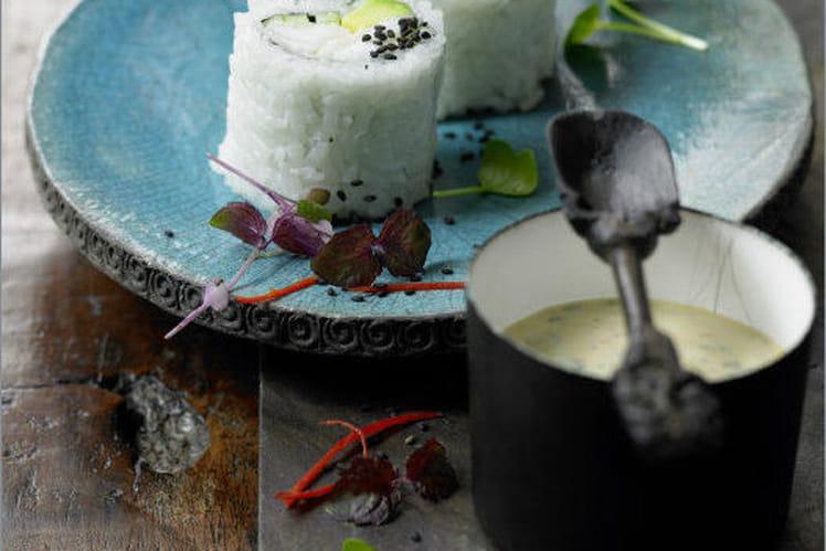 Maki de cabillaud de Norvège et sauce rémoulade pimentée