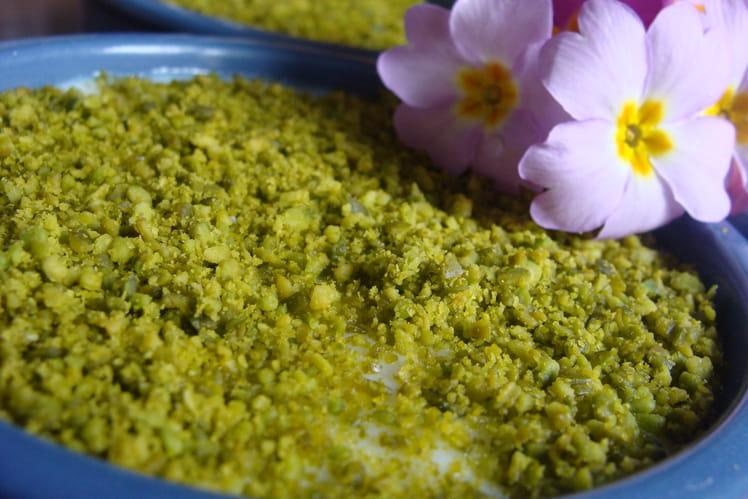 Crème de riz à l'indienne cardamone, eau de rose, pistache