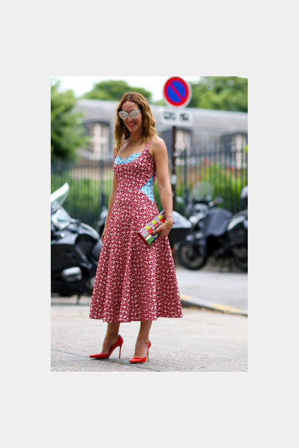 Street looks fashion week haute couture : fleuri