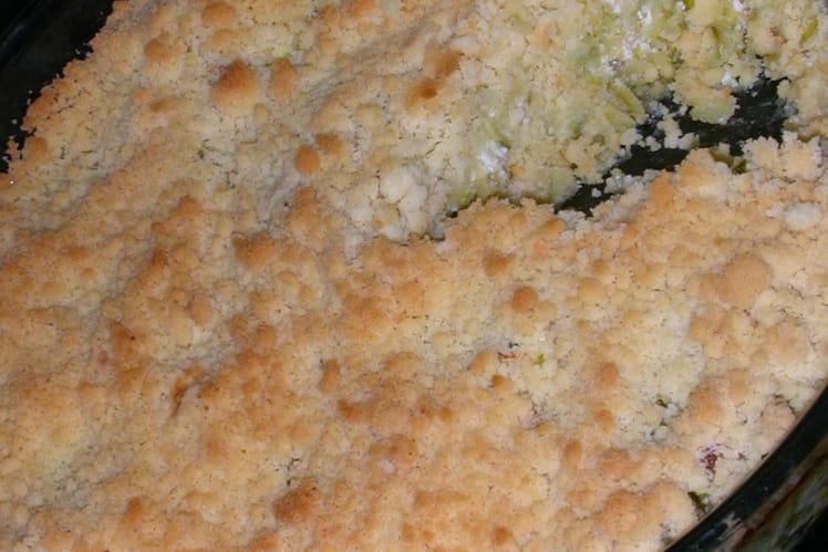 Crumble de courgettes au chèvre frais