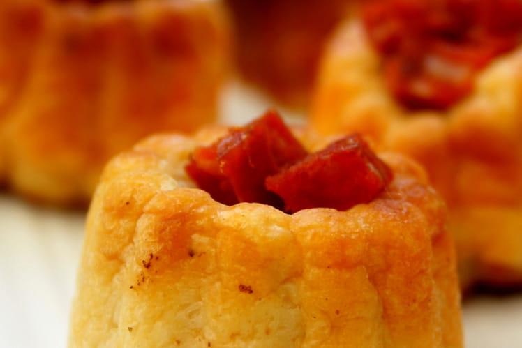 Cannelés au chorizo et parmesan