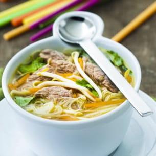 soupe chinoise à l'agneau