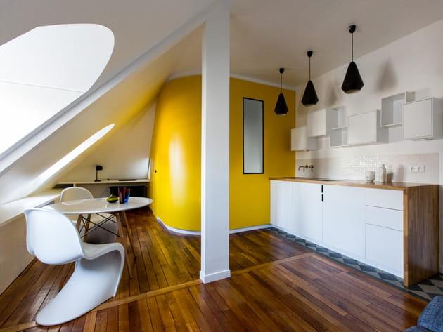 Une cuisine ouverte graphique