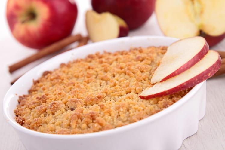 Crumble aux pommes gourmand