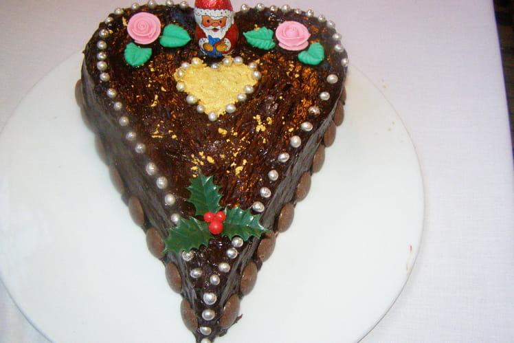 Gâteau au chocolat sans farine et crème sans beurre