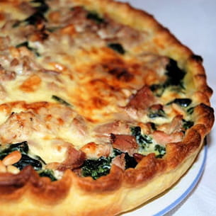 tarte aux épinards et au thon