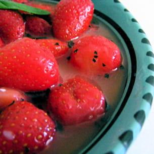 fraîcheur de fraises à l'orientale