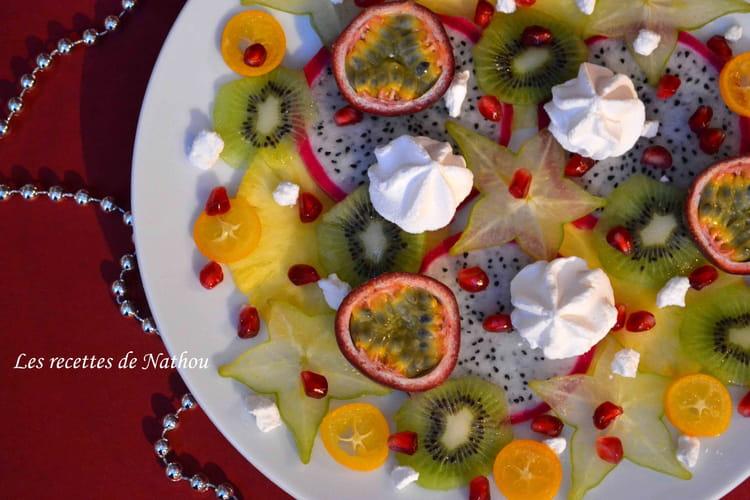 Carpaccio de fruits exotiques, rhum et citron vert